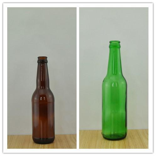 High quality amber beer bottle