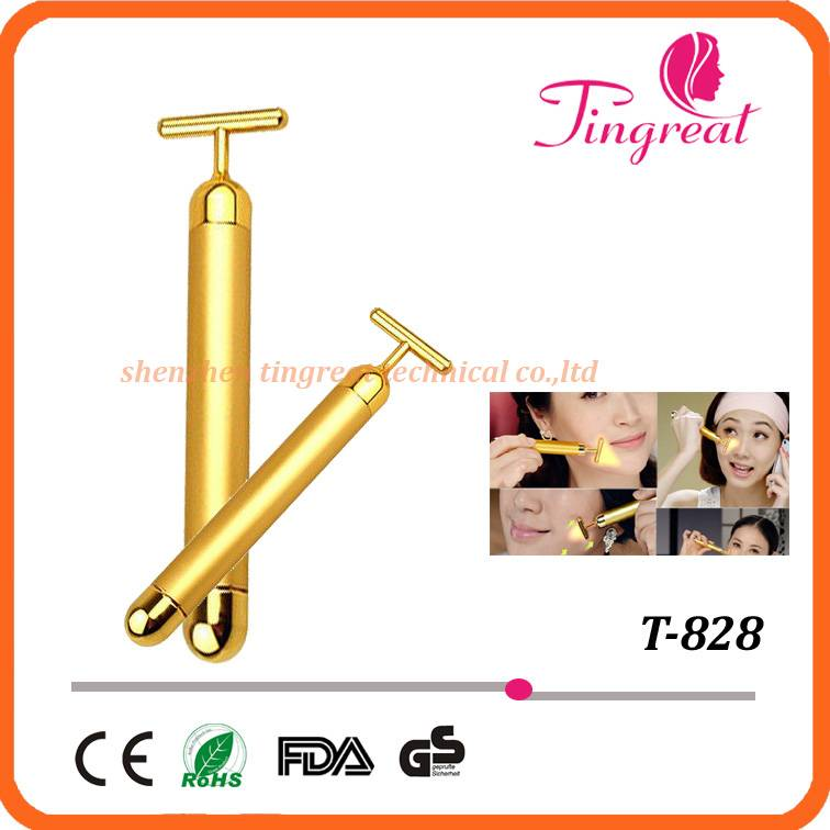 Golden anti-wrinkle massager