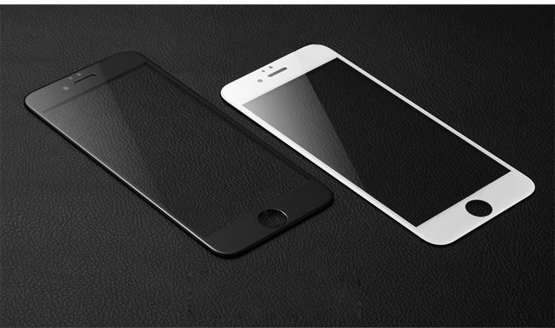 Blueo PET Glossy Frame 3D Edge 0.2mm tempered glass screen protector for iphone7 plus