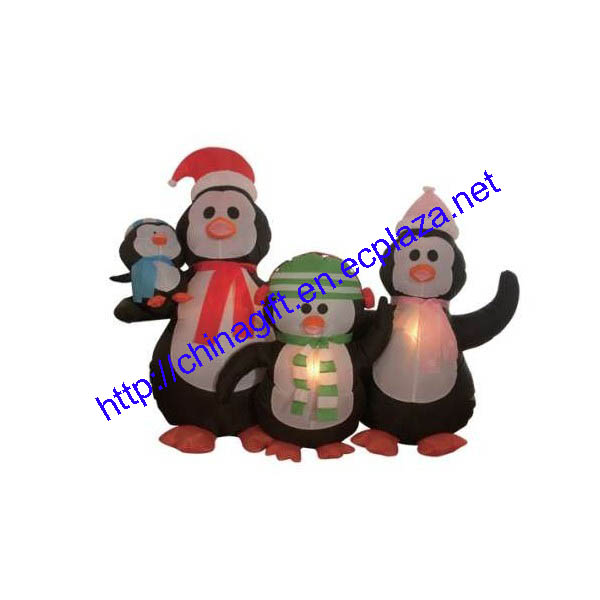 1.6 Meter Christmas Inflatable Penguins Family