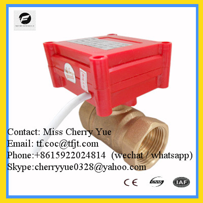 Sell 2 way 3 way dn8-dn32 brass stainless steel CWX-20P Electric Ball Valve