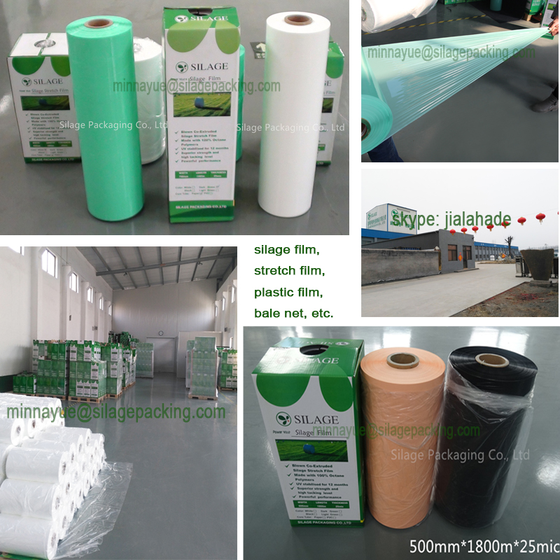 Factory directly,Silage Film for Baler,Farm Used packing Film,Grass Bale Wrapping Film