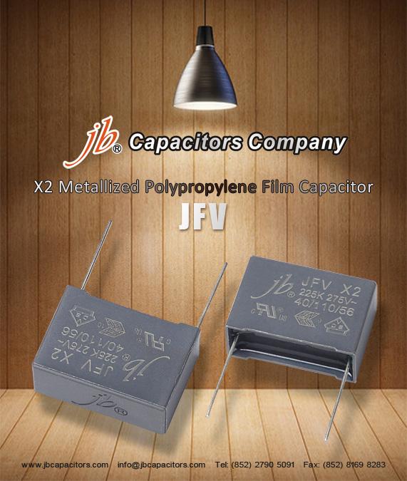 JFV - X2 Metallized Polypropylene Film Capacitor (275VAC)