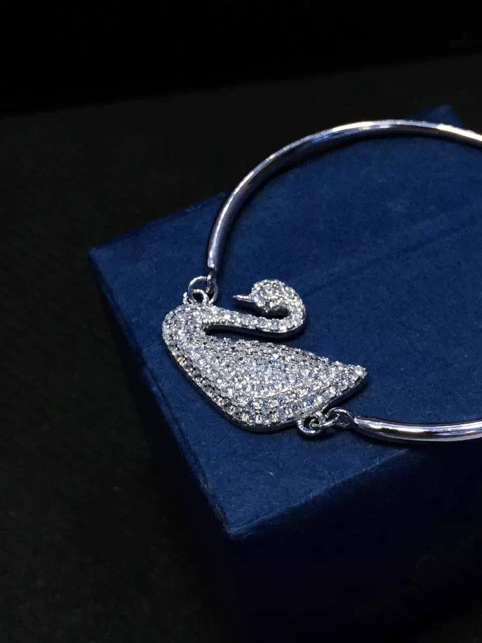 NEFFLY 2016 new arrival white swan 925 silver Charm Bracelet free shipping