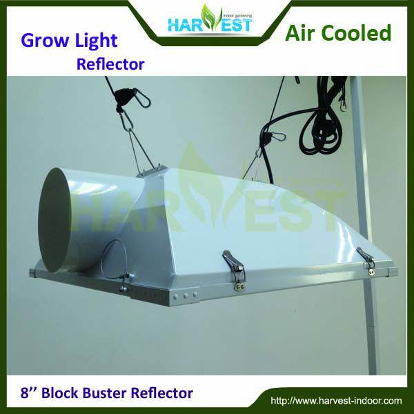 Hydroponics 8 inch air cooled grow light fixture