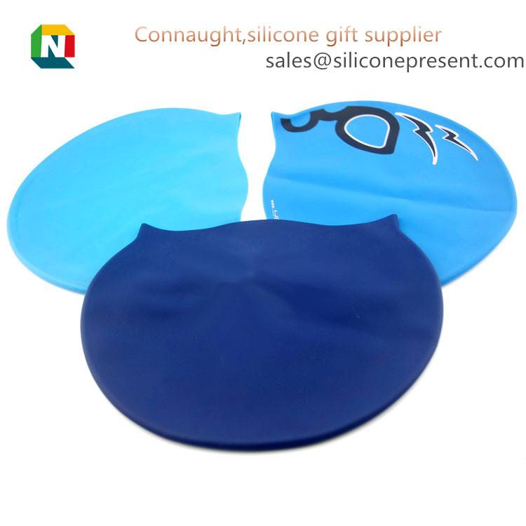 Customized Printed Waterproof Adult Funny Swimming Cap, Nude Swimming Cap, Silicone Swimming cap