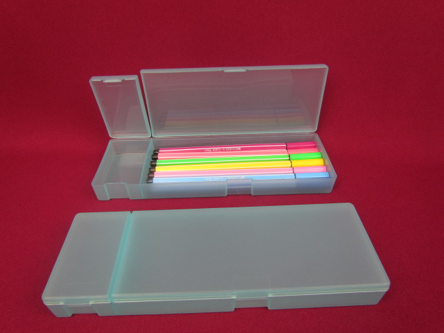 Recyclable Feature and PP Plastic Type pen box ,pencil box ,stationery box