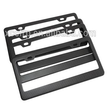 Factory Hot Sales Carbon Fiber Composite Decorative License Plate Frames