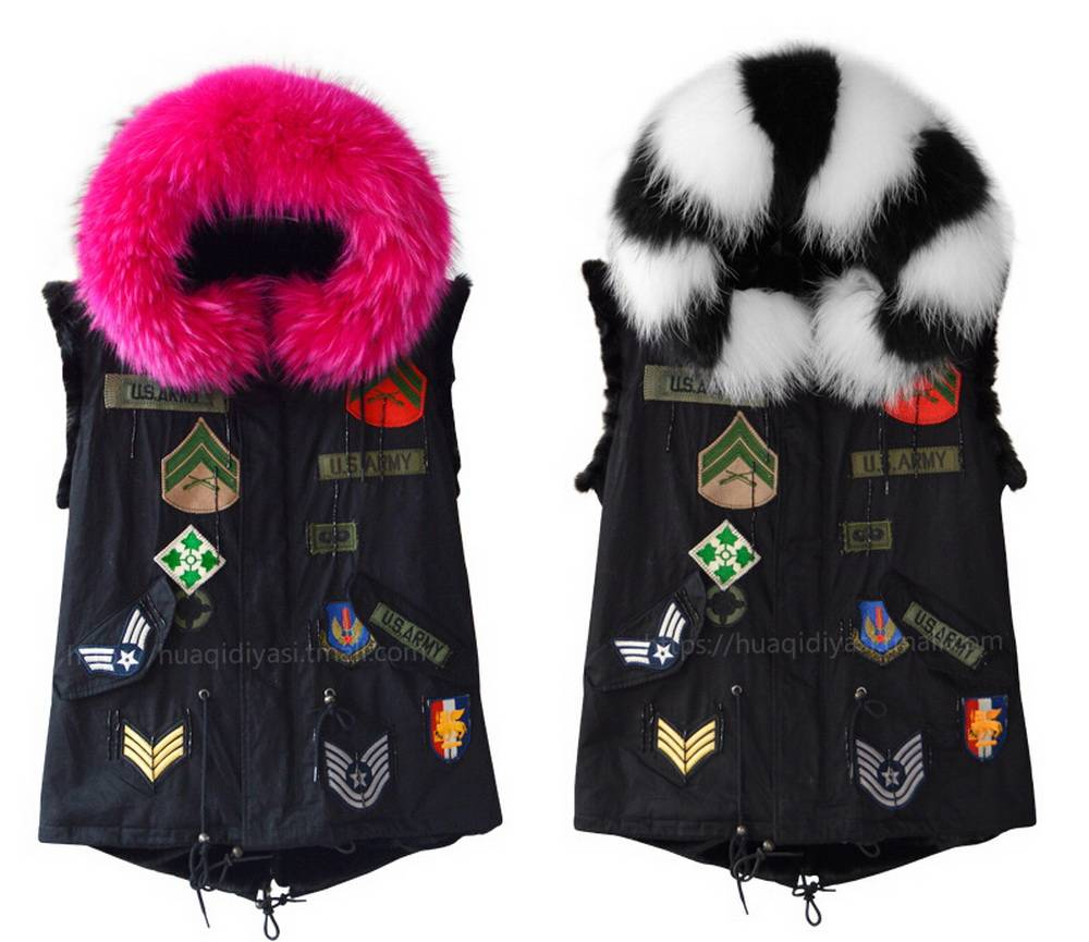 UK fashion women winter fur parka high quality