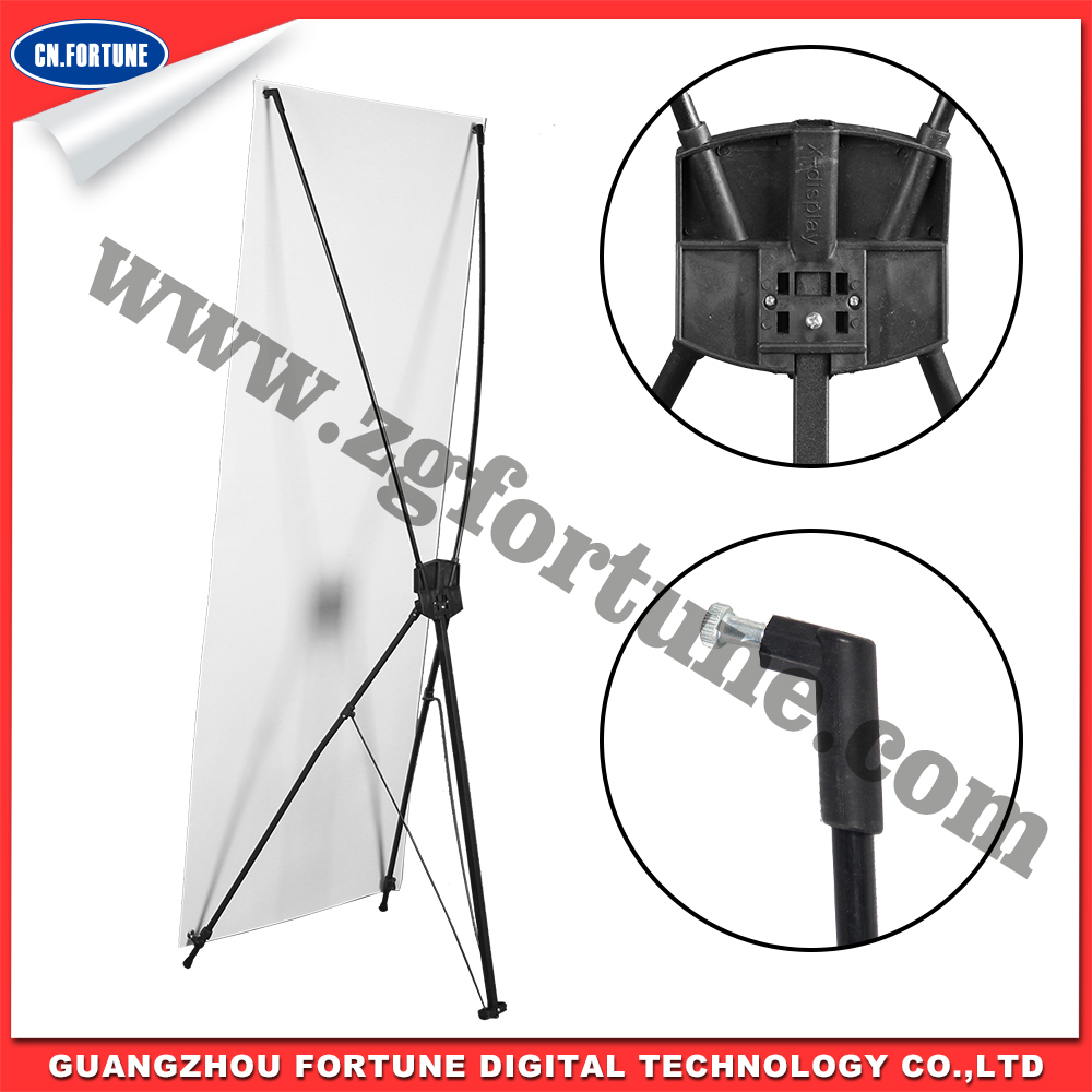 Economical Korean Style X Banner Stand All Black