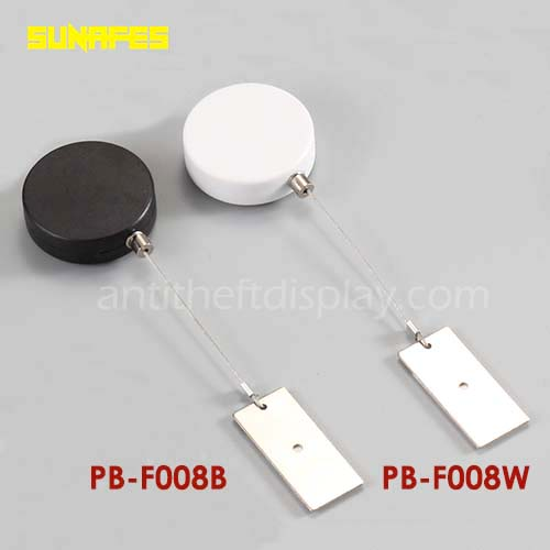 Round-Shape Retail Security Pull Box,anti-theft advertising Secure Pull Lanyard