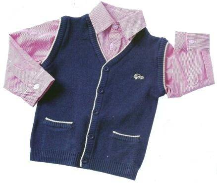 Boy's knitted vest