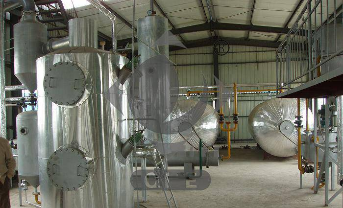 Soybean oil refining plant full continuous deodorization process