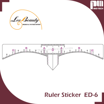 Symmetry Microblading Ruler Sticker