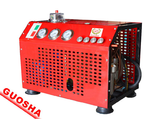 GSV100 type fire breathing air compressor/filling bottles of fire/high pressure air compressor