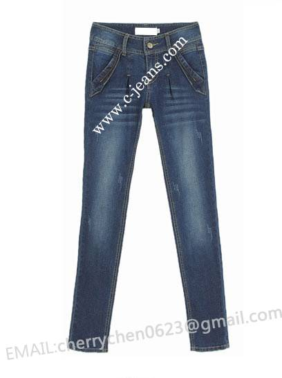 Lady's Latest Fashion Straight Jeans. 2014 New Fashion Woman Jean