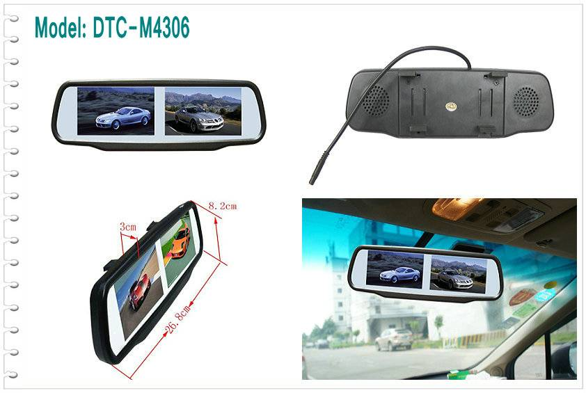 4.3 inch Rearview LCD mirror Monitor
