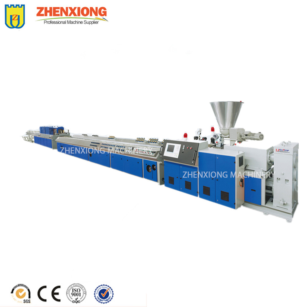 wpc pvc profile extrusion line window and door profile special shape profile extruder machine