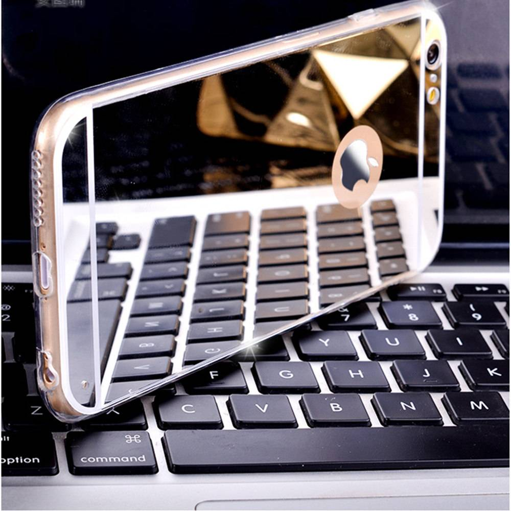 New phone product phone case tpu mirror phone cases electroplating tpu cell phone case for iphone 6/