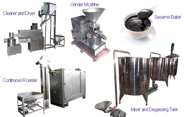 700kg/h Sesame Tahini Production Line with Factories