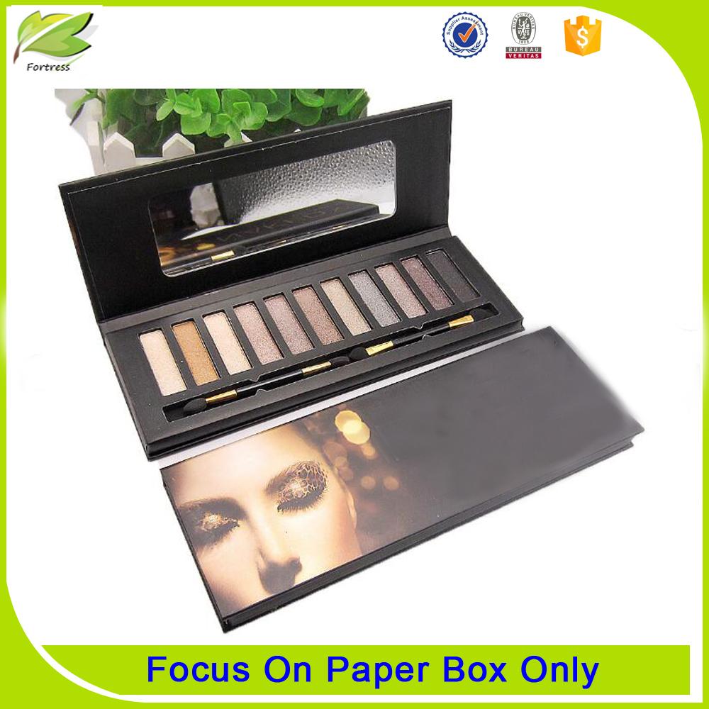 Popular custom cardboard black paper eyeshadow palette