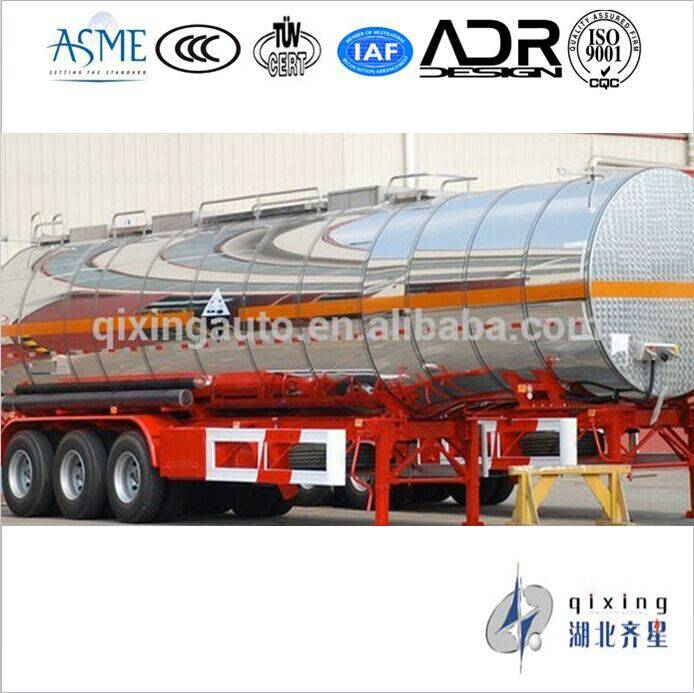 Two axle 36000 liters Stainless Steel Oil Tank Trailer