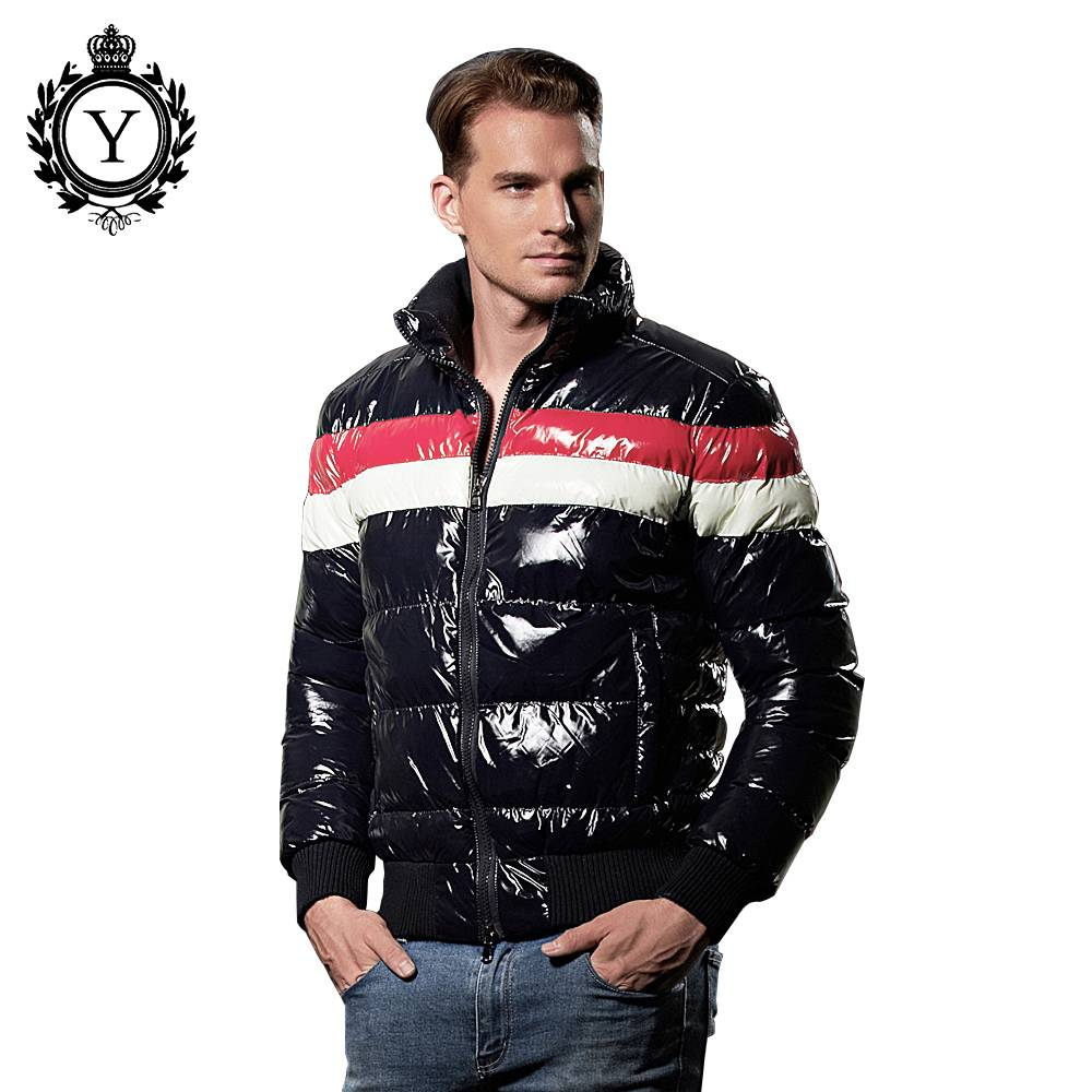 COUTUDI 2016 casual fashionable polyester shiny mens down jackets for winters