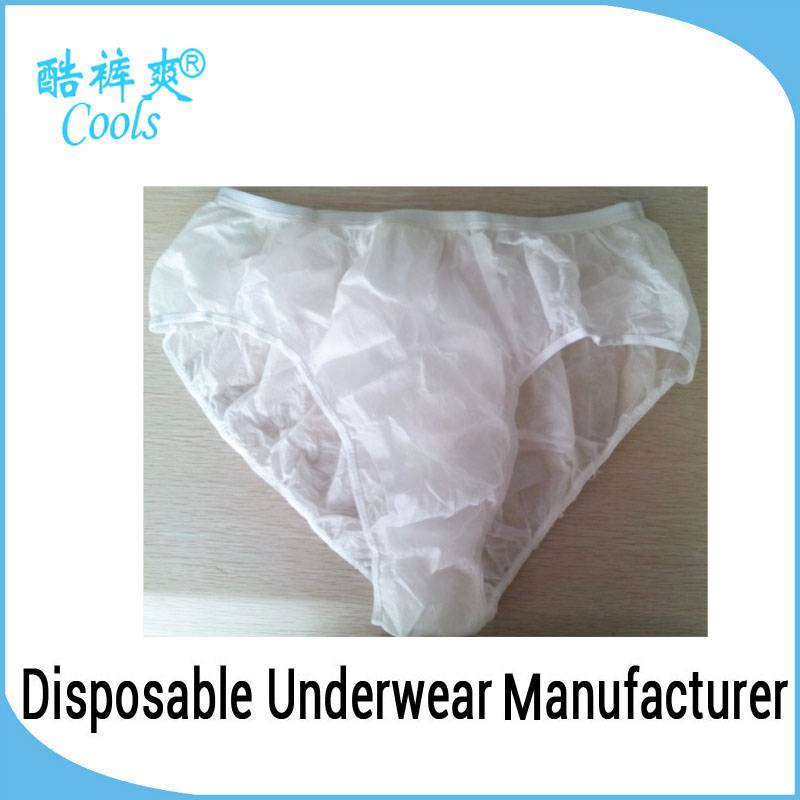 Latest Hot Selling/ Disposable Paper Panties Front Open Men Underwear for refugee