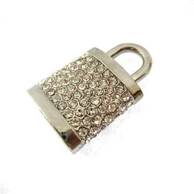 Lock Shape Diamond USB Stick