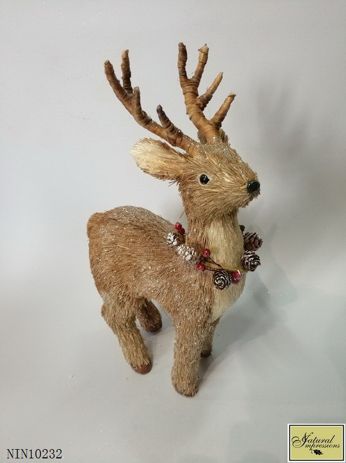 Christmas grass deer decoration