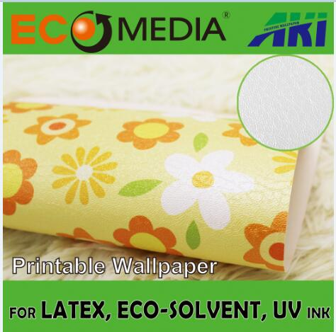 AKI 028 litchi texture adhesive 3D colorful printable wallpaper