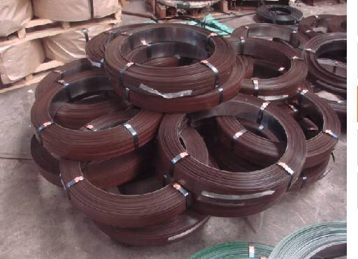 brown  steel strapping