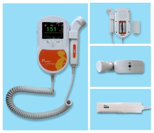 Pocket Fetal Doppler (Color LCD display with backlight)