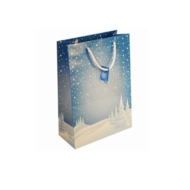 2015 new design Christmas paper bag festival paper bag
