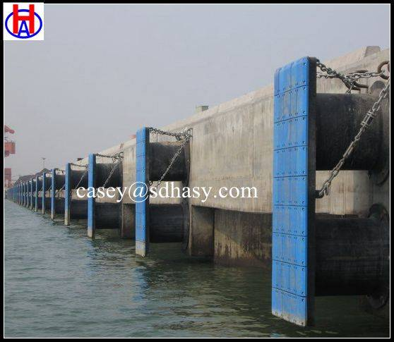 UHMWPE high impact resistance marine fender face pad / plastic fender face pad