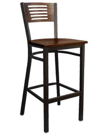 5 slats back metal barstool bar furniture bar chair
