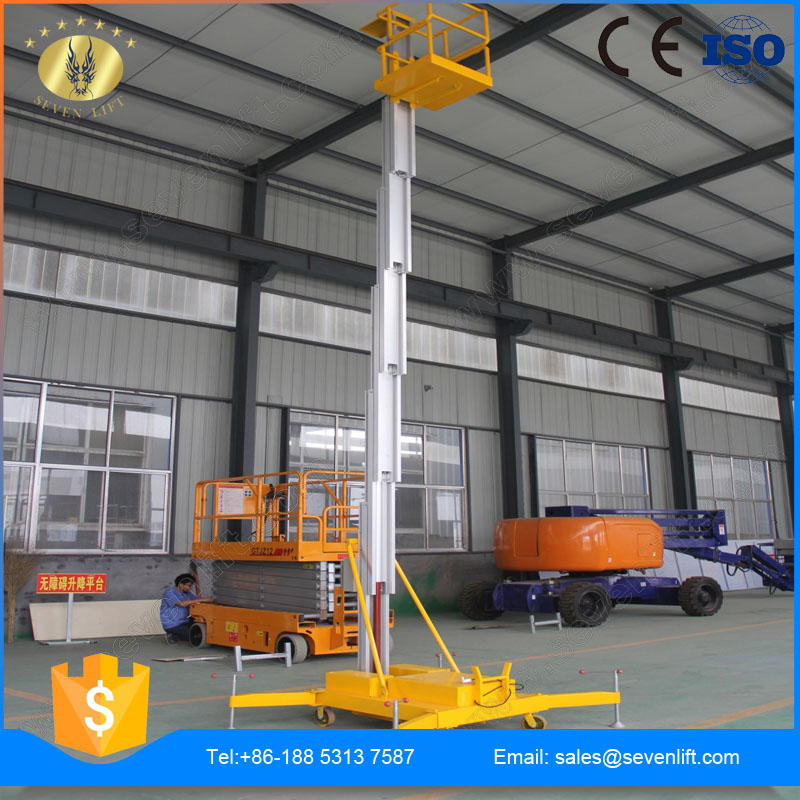 7LSJLI Jinan SevenLift wholesale manual low noise 10m hydraulic outdoor aluminum stage platform
