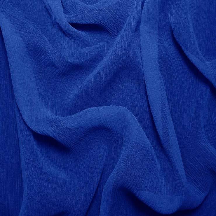 100% crinkled silk georgette