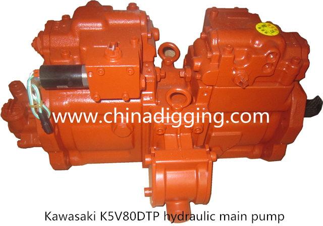 Kawasaki K5V80DTP excavator hydraulic pump main pump assy