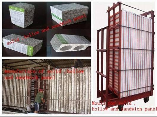 Mould machine for making eps light weight wall panels