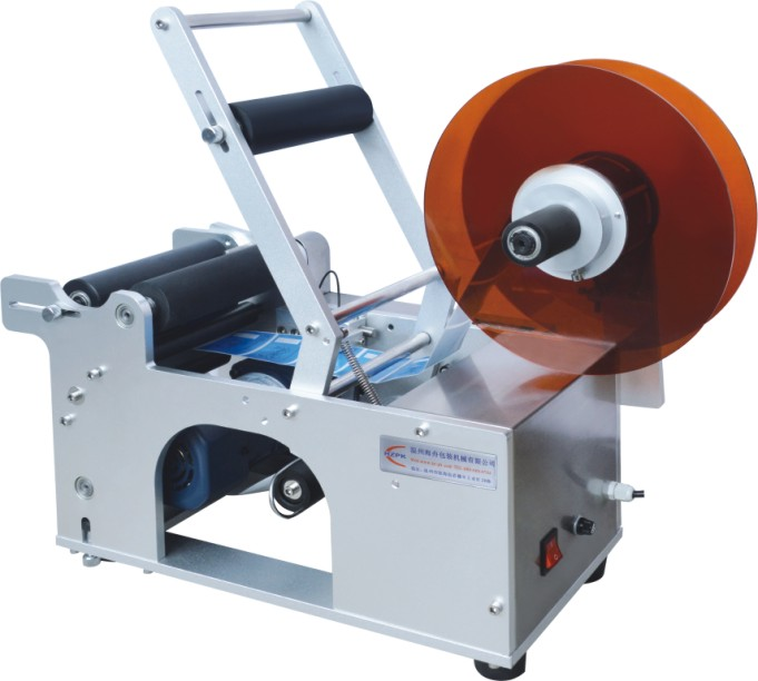Semi-Auto Round Bottle Labeler Labeling Machine