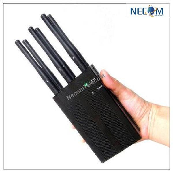 Handheld Phone Jammer & WiFI Jammer & GPS Jammer with Cooling fan