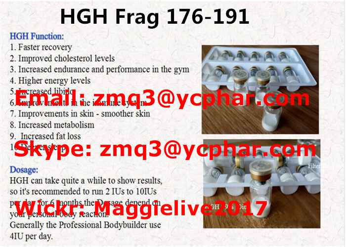 Growth Hormone peptide fragment HGH Frag 176-191 Peptide 2mg/vial