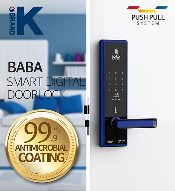 Smart Digital door lock BABA-8200 Swipe Card Password Opening Electronic Automatic Door Lock