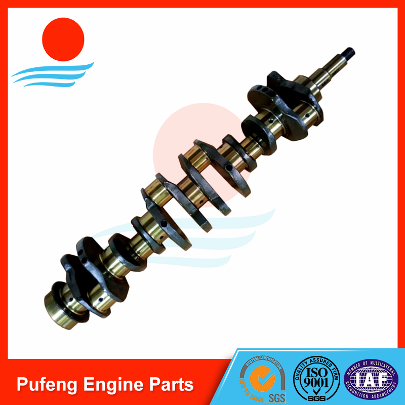 Mitsubishi 6D31 6D31T crankshaft forging crankshaft ME082505 for KOBELCO excavator