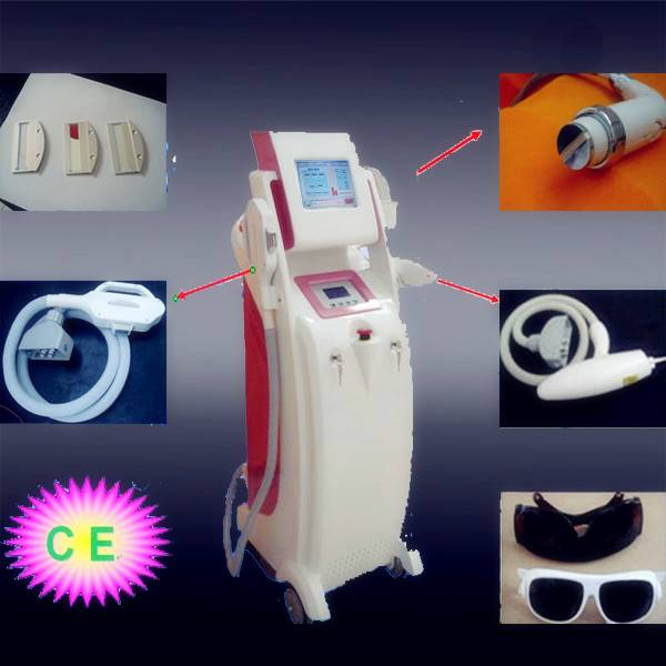 E-light IPL RF+ND yag laser multifunction beauty machine