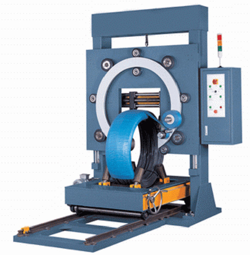Professional tyre wrapping machine