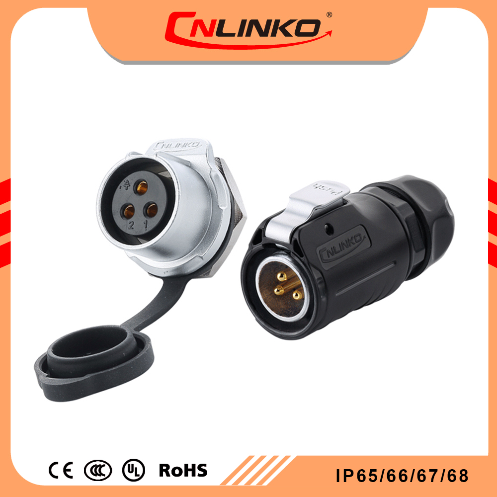 Made in China outdoor cable Circular Electrical Plug 120v 3 pin power Connectors Waterproof