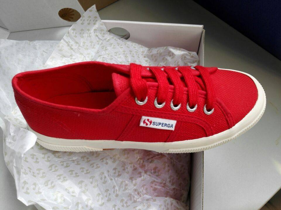 Red Superga Canvas Vulcanized Shoes (2750)