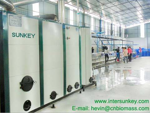 SUNKEY hot sale automatic industrial biomass hot blast furnace